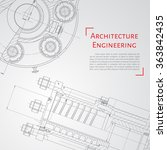 vector technical blueprint of ... | Shutterstock .eps vector #363842435
