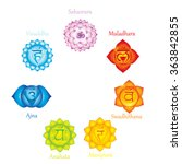 chakra icons. concept of... | Shutterstock .eps vector #363842855