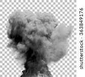 isolated vector smoke   eps10... | Shutterstock .eps vector #363849176