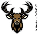 deer head mascot | Shutterstock .eps vector #363849362