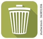recycle bin flat icon | Shutterstock .eps vector #363851336