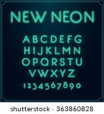 neon font type alphabet....   Shutterstock .eps vector #363860828