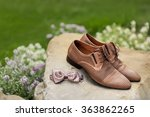 mans leather classic shoes | Shutterstock . vector #363862265