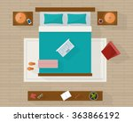 bedroom with furniture overhead ... | Shutterstock .eps vector #363866192