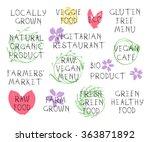 healthy vegan eating concept....   Shutterstock .eps vector #363871892