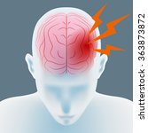 headache  cerebral hemorrhage ... | Shutterstock .eps vector #363873872