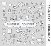 doodles in business object and... | Shutterstock .eps vector #363875432