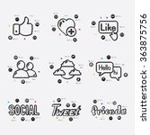 social network infographic | Shutterstock .eps vector #363875756