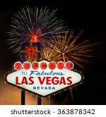 welcome to fabulous las vegas... | Shutterstock . vector #363878342