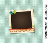 design photo frame on nice...   Shutterstock .eps vector #363880352