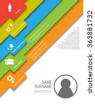 resume   cv template design... | Shutterstock .eps vector #363881732