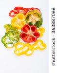 sweet pepper isolated on white... | Shutterstock . vector #363887066