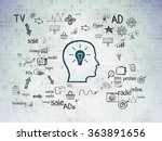 advertising concept  head with... | Shutterstock . vector #363891656