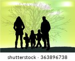 family silhouettes in nature. | Shutterstock .eps vector #363896738