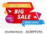 big sale banner  70  off  best... | Shutterstock .eps vector #363899246