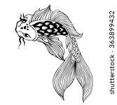 doodle vector fish   Shutterstock .eps vector #363899432