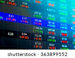 financial data on a monitor.... | Shutterstock . vector #363899552