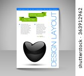 business flyer template with... | Shutterstock .eps vector #363912962