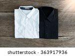 black shirt and white shirt on... | Shutterstock . vector #363917936