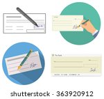 bank check | Shutterstock .eps vector #363920912