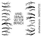 Hand Drawn Tree Branches Set ...