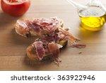 pan tumaca. bread with tomato... | Shutterstock . vector #363922946