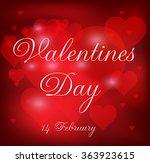 valentine 's day background.... | Shutterstock .eps vector #363923615