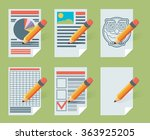 flat document icons. vector...