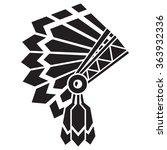 american indian avatar | Shutterstock .eps vector #363932336