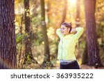 young woman running | Shutterstock . vector #363935222