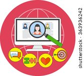online dating service concept.... | Shutterstock . vector #363936242
