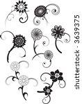 ornate flower choices in vector ... | Shutterstock .eps vector #3639375