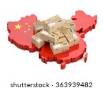 Online Shopping In China Concept