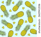 seamless pattern with... | Shutterstock .eps vector #363941336
