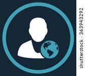 international manager vector... | Shutterstock .eps vector #363943292