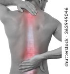pain in spine.medical concept | Shutterstock . vector #363949046