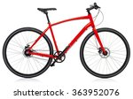 New Red Bicycle Isolated On A...