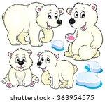 polar bears theme collection 1  ... | Shutterstock .eps vector #363954575