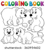 coloring book with polar bears  ... | Shutterstock .eps vector #363954602