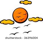 birds and sun | Shutterstock .eps vector #36396004