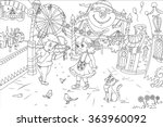 line art   coloring book... | Shutterstock . vector #363960092