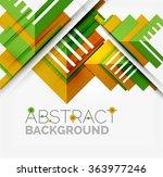 vector triangle background | Shutterstock .eps vector #363977246