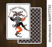 Joker Cards On Wooden...