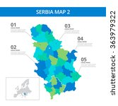serbia map template 2 | Shutterstock .eps vector #363979322