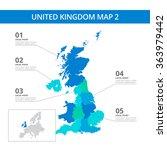 united kingdom map template 2 | Shutterstock .eps vector #363979442