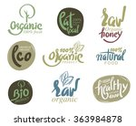 bio organic gluten free eco bio ... | Shutterstock .eps vector #363984878