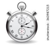 stopwatch   clock and time... | Shutterstock .eps vector #363987215