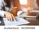 hands of financial manager... | Shutterstock . vector #363989888