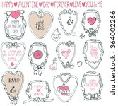 wedding frame decor set.label... | Shutterstock . vector #364002266