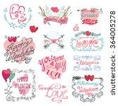valentines day romantic... | Shutterstock . vector #364005278